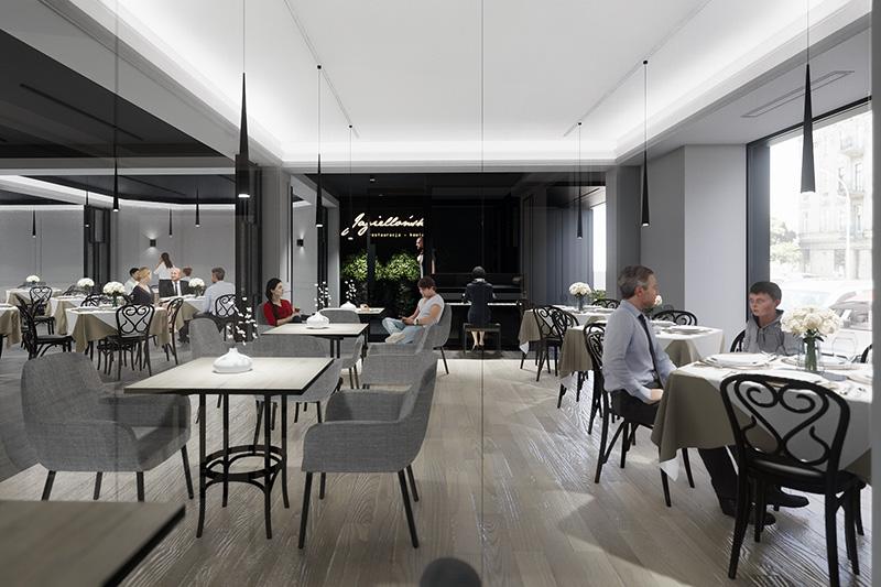 Projekt Wnętrz I Elewacji Restauracji 400m2 Jagiellońska